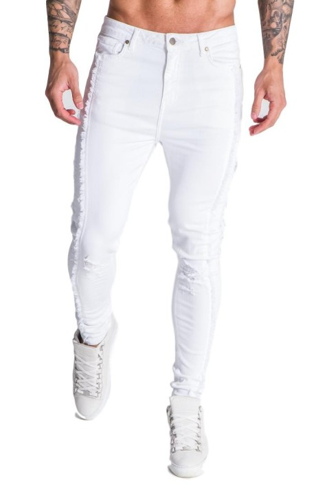 Jeans Gianni Kavanagh white worn