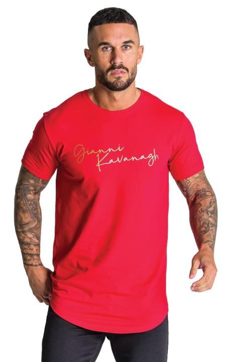 Camiseta Gianni Kavanagh roja con firma GK