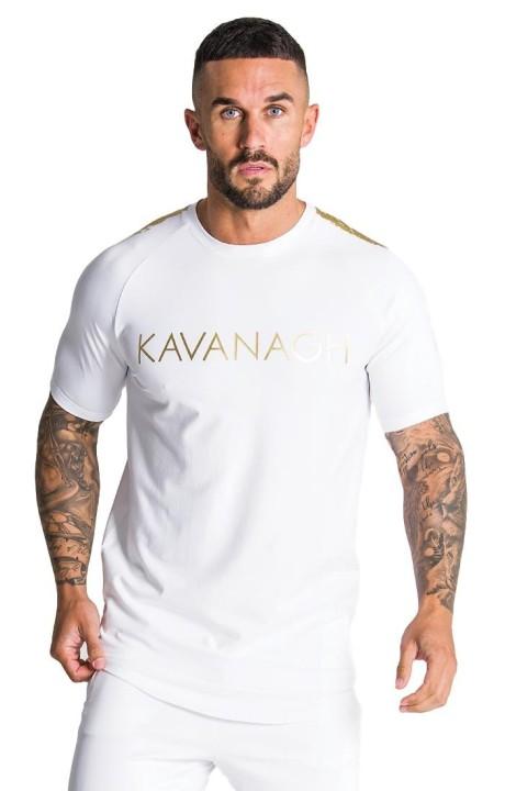 Camiseta Gianni Kavanagh blanca con detalles oro