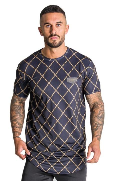 T-shirt Gianni Kavanagh Black gold chain