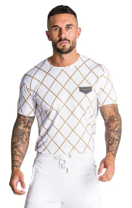 T-shirt Gianni Kavanagh en or Blanc de la chaîne