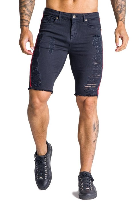 Jeans Short Gianni Kavanagh black with lines
