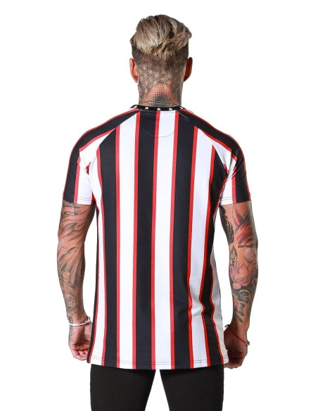 Camiseta SikSilk Jeremy dobladillo Raglán Marino