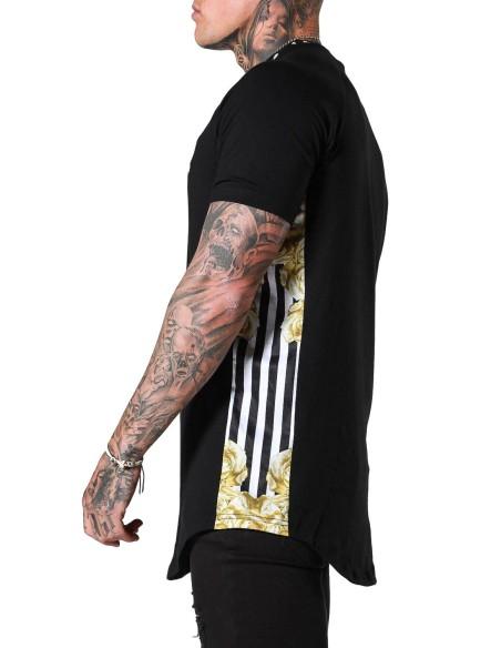 Camiseta SikSilk Jeremy con mangas enrolladas Blanco