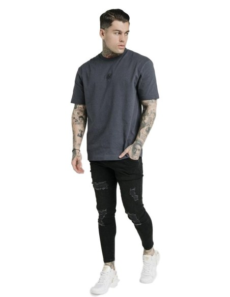 Shirt by SikSilk S/S Hazy Daze Resort Black, red, and teal