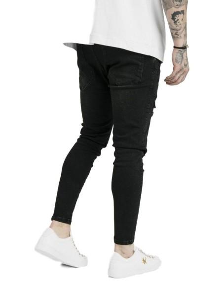 T-shirt Gianni Kavanagh block asymmetrical GK white