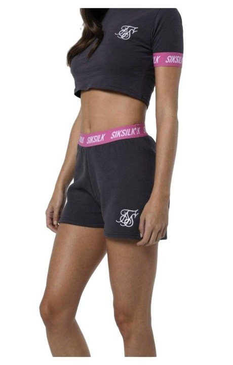 Short SikSilk Gym Gray and Pink