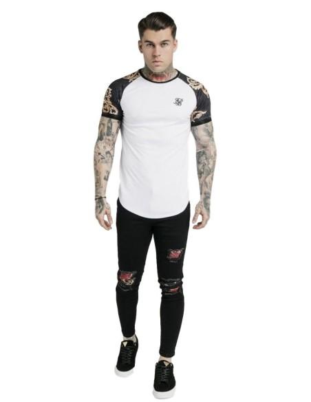 Pantalón Roone Roman Jogger Striped Blanco y Rojo