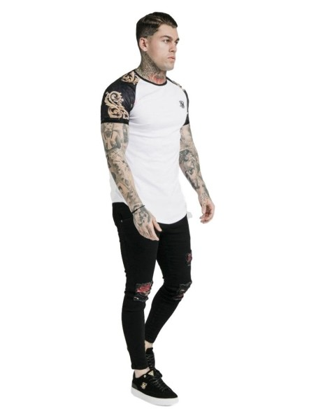 Jeans Gianni Kavanagh White With Pink Worn