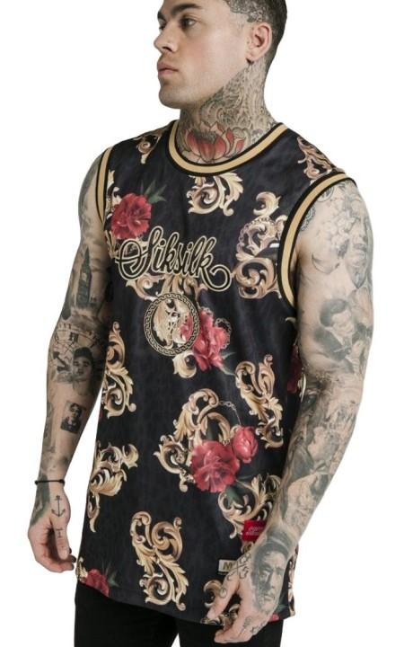 Camiseta SikSilk Basketball Vest Dani Alves Negro