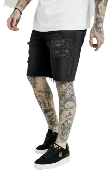Jeans Corto SikSilk Loose Fit Dani Alves Negro