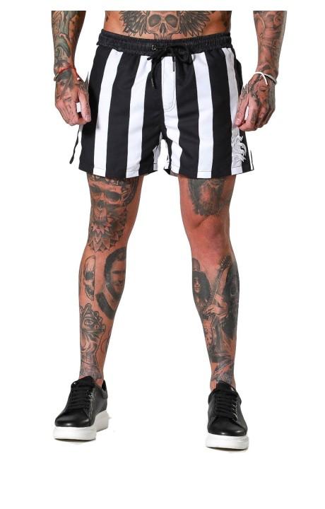 Pantalon Gianni Kavangh Contrasting Detalle piel vuelta Negro