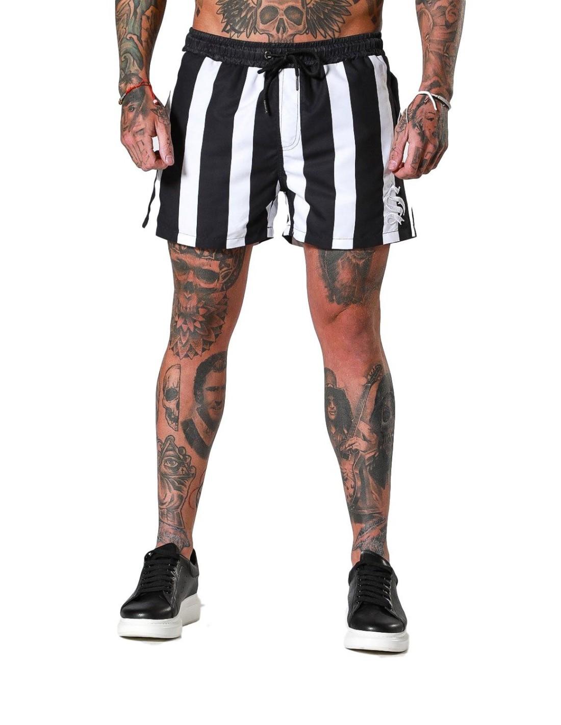 Pantalon Gianni Kavanagh Contraste de Détail arrière en cuir Noir