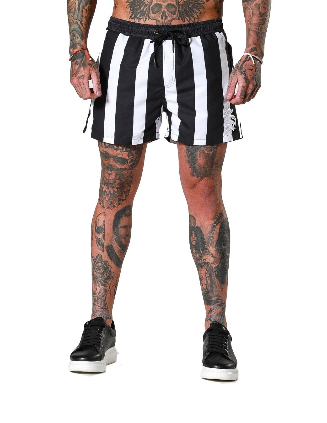 Pantalon Gianni Kavangh Contrasting Detail leather back Black
