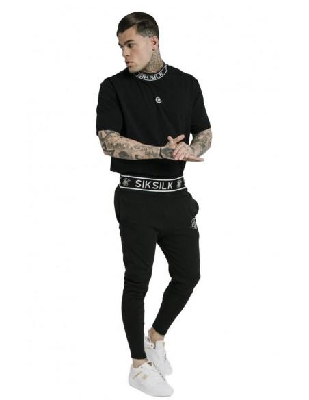Jacket Gianni Kavanagh Contrasting Detail Leather Back Black