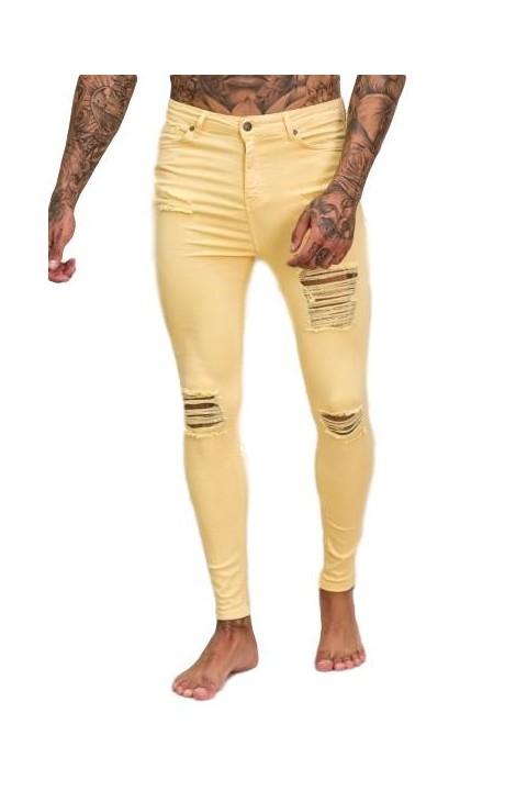 Pantalón Gianni Kavanagh Ripped Jeans Amarillo