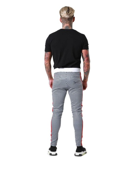Pantalon Sinners of boxes and tape side red