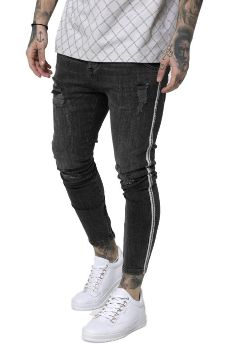 Jeans SikSilk Low Rise washed Black