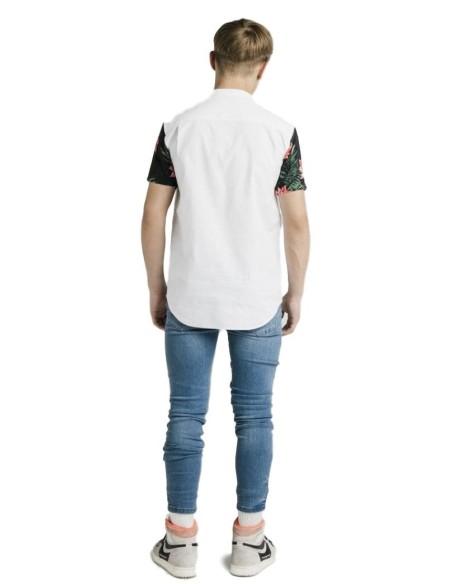 Camiseta Gianni Kavanagh Negro , Blanca y Burdeos