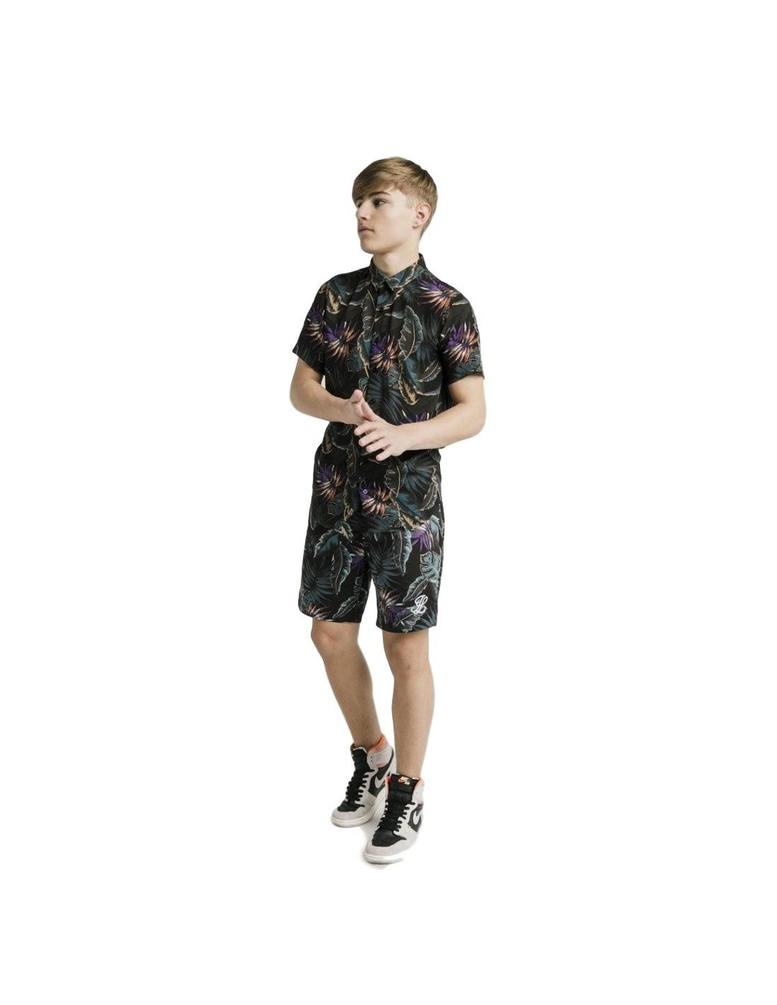 New ILLUSIVE LONDON Boys' Palm Swim Shorts