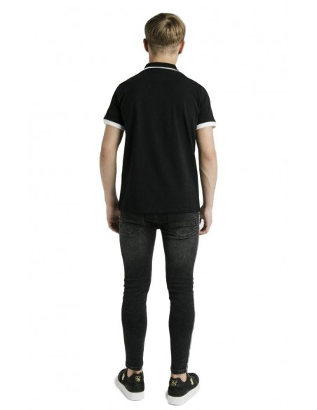 Camiseta Roone Roman Blanca con cinta RR de contraste