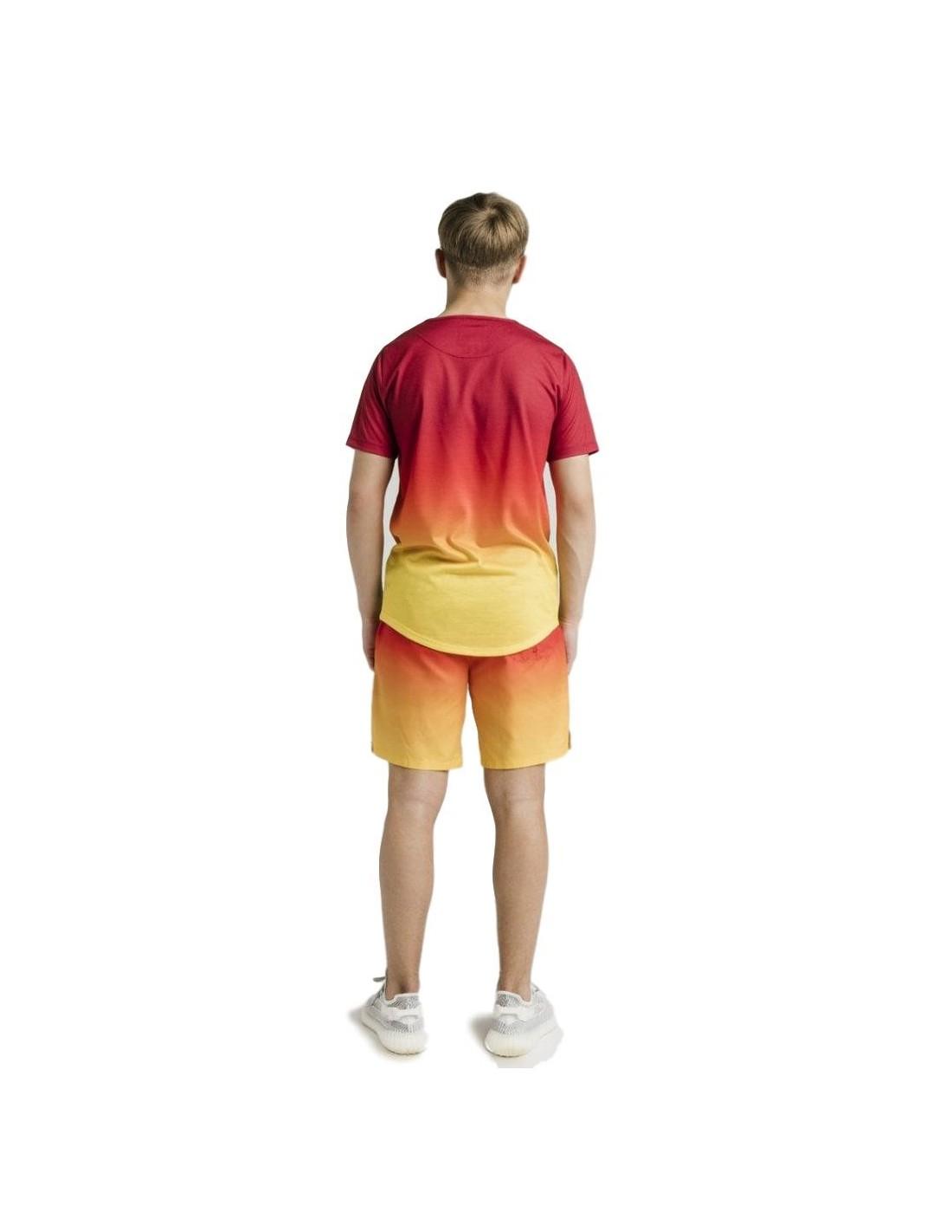 Camiseta Roone Roman Rayas Negro,Gris y Blanco