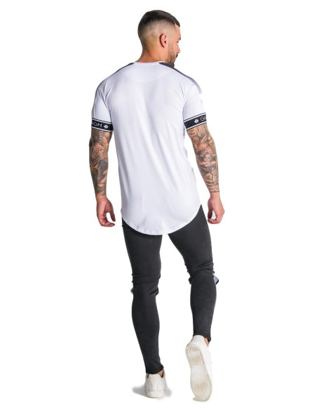 Camiseta Gianni Kavanagh Racer Blanca con detalles Negros