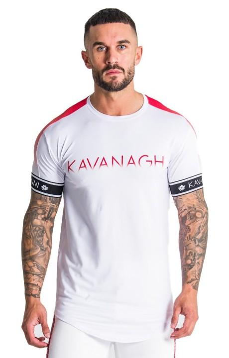 T-shirt Gianni Kavanagh Racer Blanc avec des détails de Bordeaux