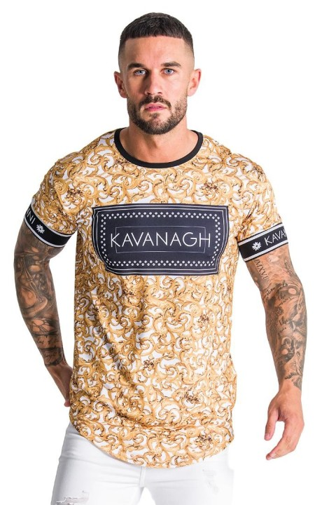 Camiseta Gianni Kavanagh Barroco Blanca con impresión negra