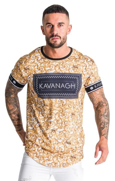 T-shirt Gianni Kavanagh Baroque Blanc avec impression en noir