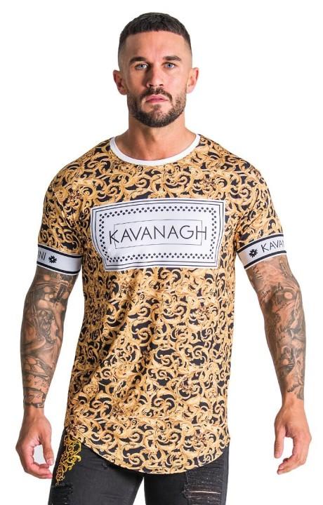 Camiseta Gianni Kavanagh Barroco Negra con impresión blanca