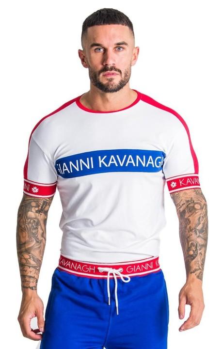 T-shirt Gianni Kavanagh Piste de Blanc, Rouge et Bleu