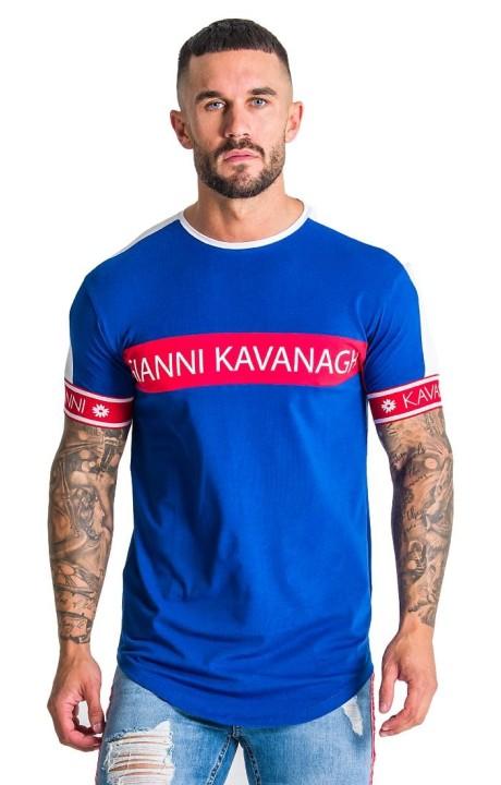 T-shirt Gianni Kavanagh Piste Bleu, Blanc et Rouge