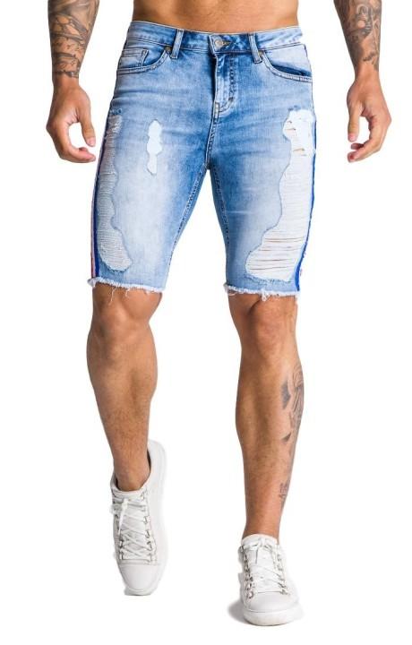 Jeans Corto Gianni Kavanagh azul con lineas
