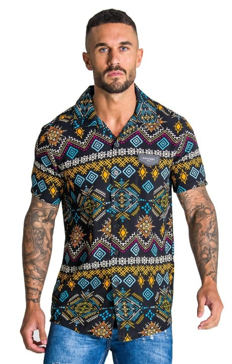 Camisa Gianni Kavanagh Multicolor Ethnic Colletion