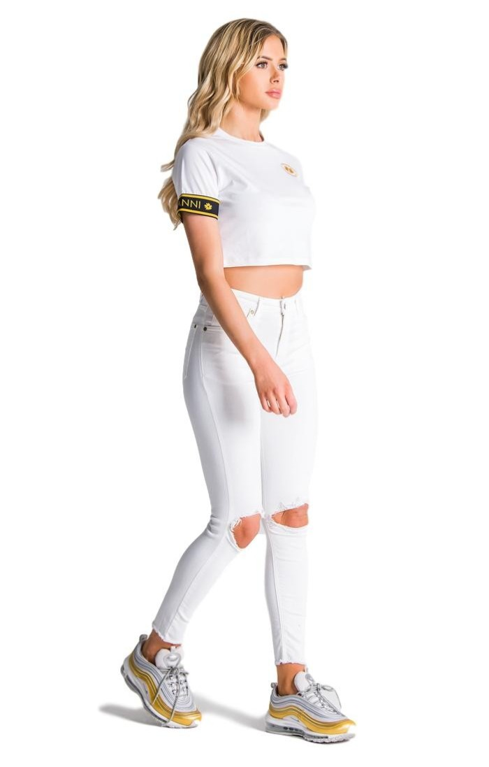 Sweatshirt with hood SikSilk Athena White