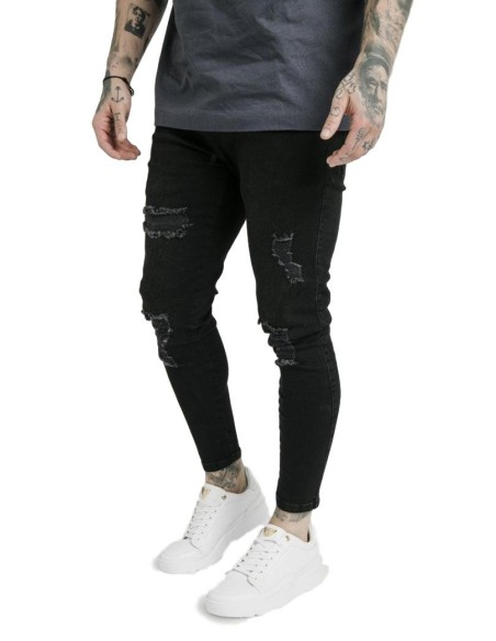 Pantalon SikSilk Cropped Gold Black and Gold