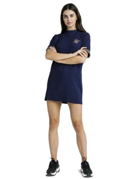 Vestido Siksilk tipo camiseta Cartel Tape Box Fit