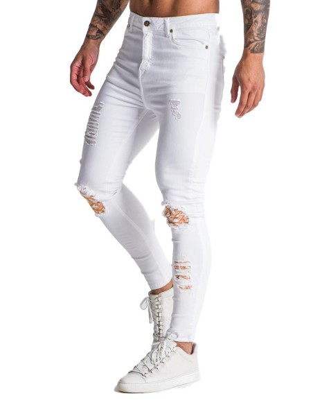 Jeans Gianni Kavanagh white with excess Baroque