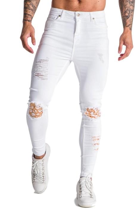 Jeans Gianni Kavanagh blanco con exceso de Barroco
