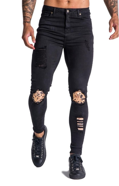 Jeans Gianni Kavanagh black with excess Baroque