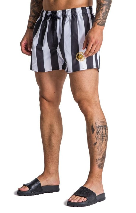 Swimsuit Gianni Kavanagh of stripes with logo in circle