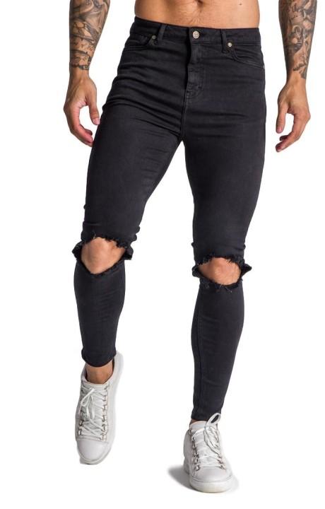 Jeans Gianni Kavanagh negro con logo en circulo