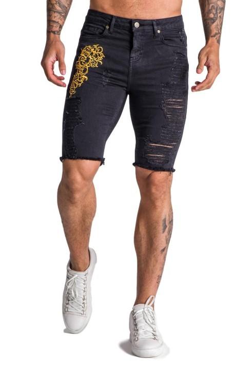 Jeans Shorts Gianni Kavanagh noir avec un excès Baroque
