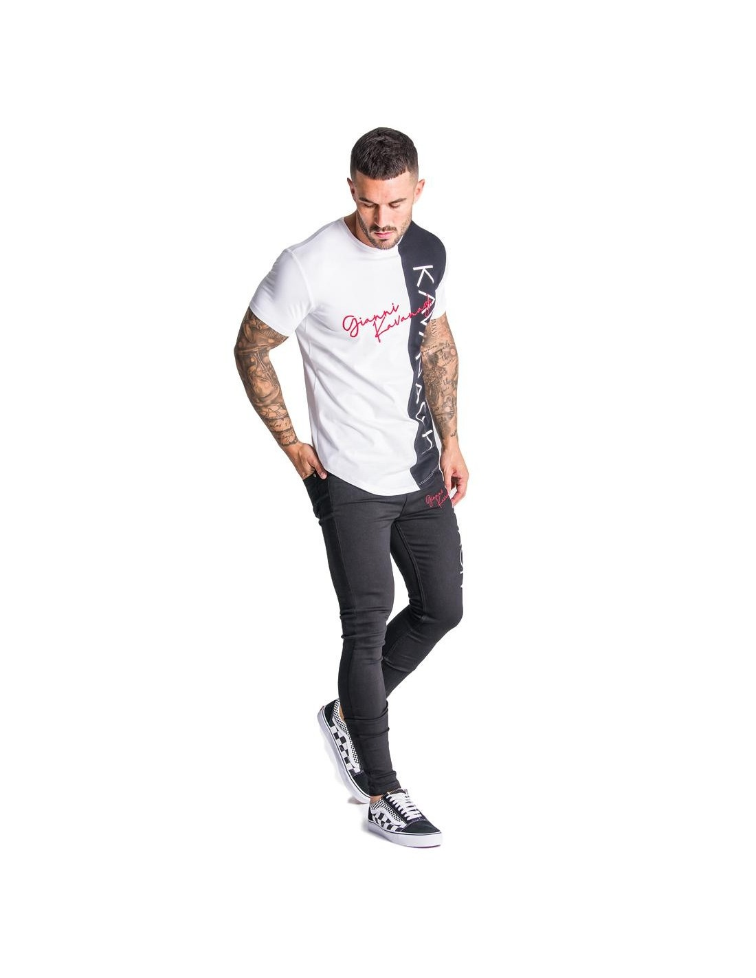 Pantalon Chino corto SikSilk Raw Hem Marino