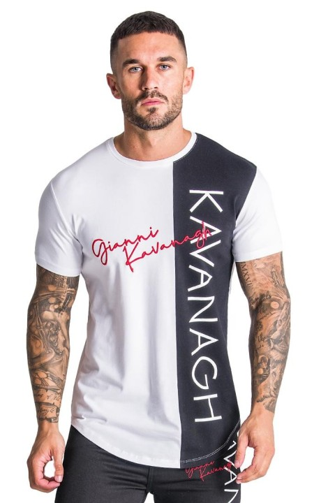 Camiseta Gianni Kavanagh Blanca con Intersetion Negra