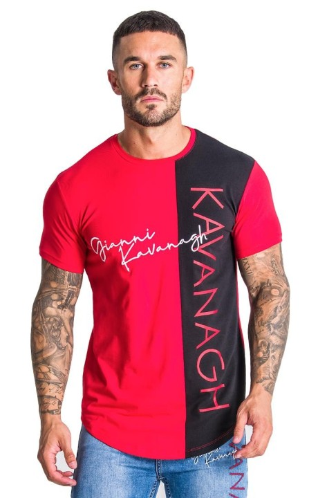 Camiseta Gianni Kavanagh Roja con Intersetion Negra