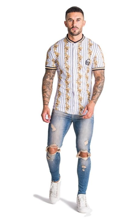Shirt by SikSilk Jardin Secret Raglan with Curved Hem