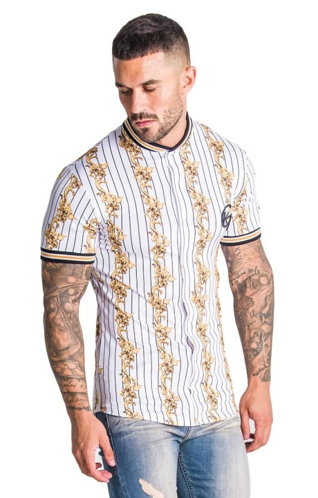 Shirt by SikSilk Contrast Gym Black and White