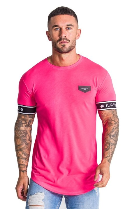 T-shirt Gianni Kavanagh neon Pink with elasticated GK
